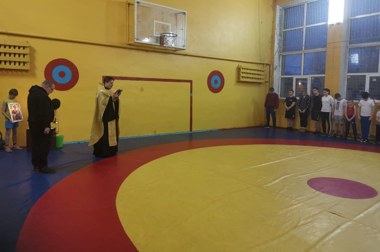 Михайловской детско-юношеской спортивной школе состоялось благословение спортивных помещений и инвентаря