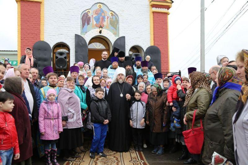 Освящение Преображенской часовни в городе Михайлове