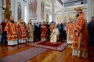 Глава Рязанской митрополии сослужил Святейшему Патриарху Кириллу на освящении храма и Литургии в Старом Русике на Афоне