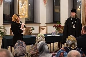 На очередной встрече в Иоанно-Кронштадтском храме митрополит Марк провел беседу, посвященную литургии Преждеосвященных Даров