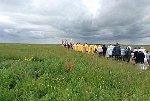 Крестный ход в день памяти обретения мощей святителя Василия, епископа Рязанского
